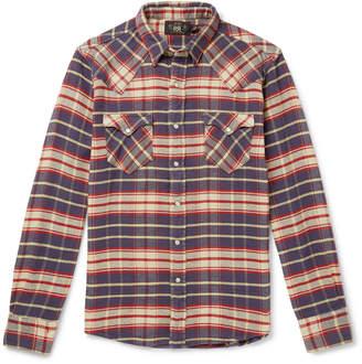 Ralph Lauren RRL Checked Cotton-Flannel Shirt