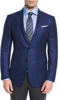 Ermenegildo Zegna Solid Cashmere Two-Button Blazer, Blue