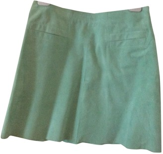 Tara Jarmon Green Leather Skirts