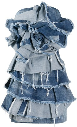 Redemption Ruffled Denim Dress