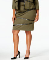 mblm by Tess Holliday Trendy Plus Size Studded Pencil Skirt