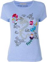 Ermanno Scervino dragon embroidered T-shirt - women - Silk/Cashmere/Wool - 42