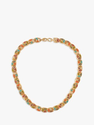 Susan Caplan Vintage D'Orlan 22ct Gold Plated Faux Pearl Lucite and Swarovski Crystal Statement Collar Necklace, Gold/Multi