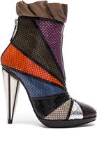 Rodarte Embossed Metallic Leather Ankle Booties