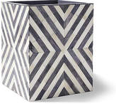 Kassatex Bristol Bone Wastebasket - Gray/White