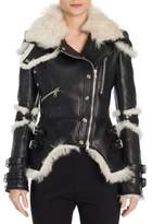 Alexander McQueen Shearling & Leather Biker Jacket
