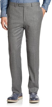 Saks Fifth Avenue COLLECTION Wool Flat-Front Pants