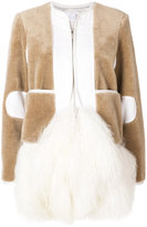 Sacai zipped fur coat