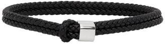 Bottega Veneta Black Braided Bracelet