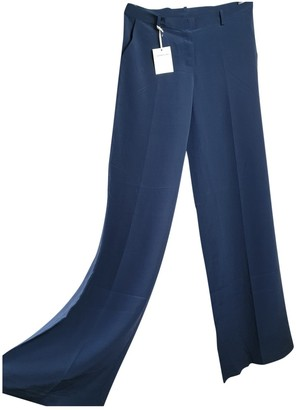 Normaluisa Blue Silk Trousers for Women