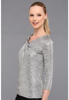 Vince Camuto Twist Neck 3/4 Sleeve Top