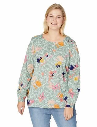 Junarose Women's Plus Size Sikira Long Sleeve Blouse