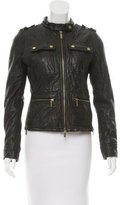 MICHAEL Michael Kors Zipper-Accented Leather Jacket