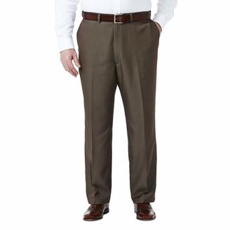 Haggar Men's Big-Tall Cool 18 Gabardine Hidden Expandable Waist Plain Front Pant