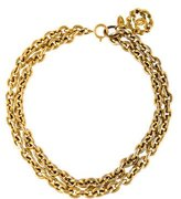 Chanel CC Double Strand Necklace