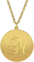 JCPenney FINE JEWELRY Personalized 14K Gold Over Sterling Silver Initial Pendant Necklace