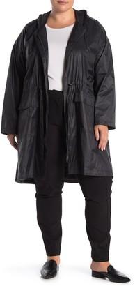 Eileen Fisher Hooded Nylon Coat (Plus Size)