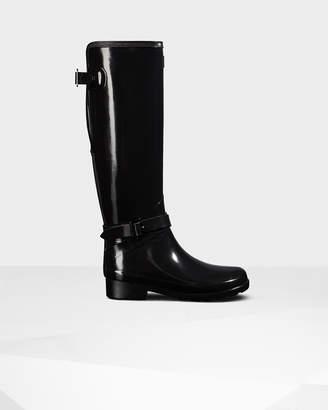 Hunter Women's Refined Adjustable Tall Gloss Wellington Boots