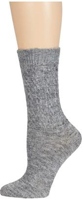 Falke True to Nature Sock (Silver) Women's Crew Cut Socks Shoes