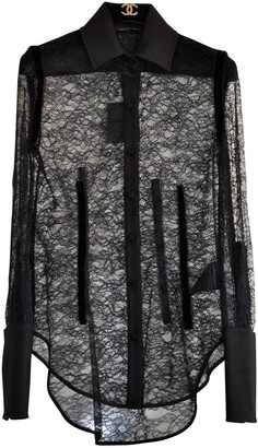 Alexander Wang Black Lace Tops
