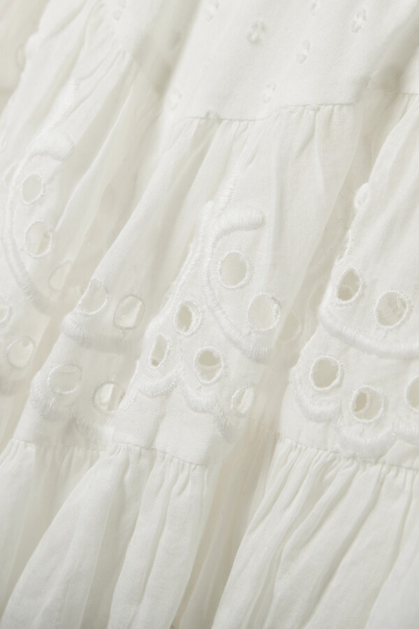 Thumbnail for your product : LoveShackFancy Briella Lace-trimmed Broderie Anglaise And Swiss-dot Cotton-voile Mini Skirt - Ivory