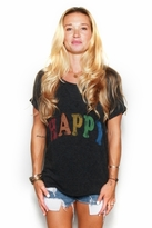Rebel Yell Happy X-Boyfriend Tee in Black