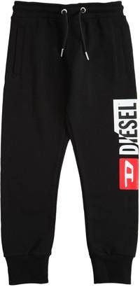 Diesel Cotton Sweatpants W/ Logo Print