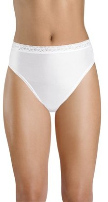 Hanes Women's Nylon Hi-Cut Panties, 6-Pack