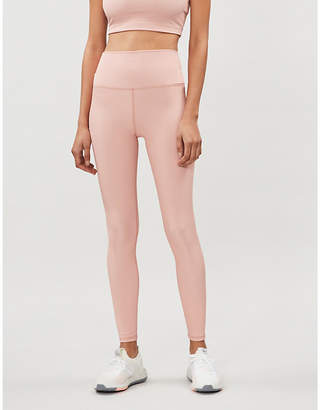 Beach Riot Ribbed high-rise stretch-jersey leggings