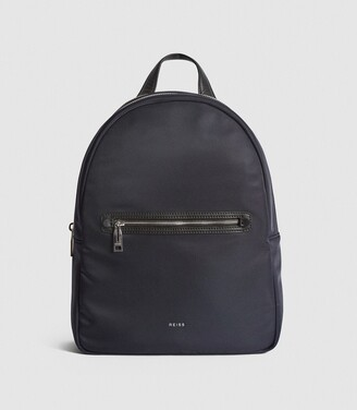 Reiss Ethan - Nylon Backpack in Navy