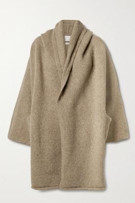 LAUREN MANOOGIAN Capote Hooded Alpaca-blend Coat - Sand