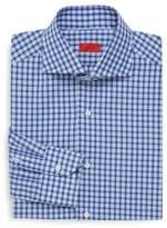 Isaia Regular-Fit Tattersall Dress Shirt