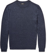 A.P.C. Mélange Cotton-Blend Sweater