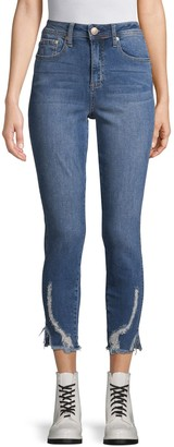 Seven7 Distressed Hem Cropped Jeans