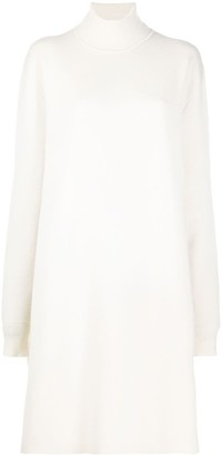 Jil Sander Roll-Neck Side-Slit Knitted Tunic