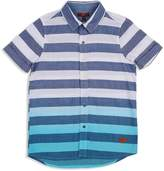 7 For All Mankind Boys' Striped Dip-Dyed Shirt