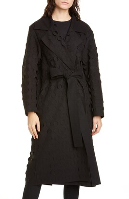 PASKAL clothes Laser Cut Circle Wrap Coat