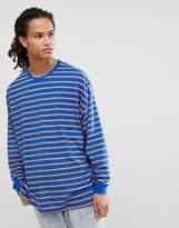 Asos DESIGN oversized stripe long sleeve t-shirt