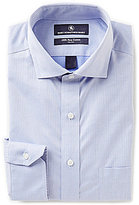 Hart Schaffner Marx Non-Iron Fitted Classic-Fit Cutaway-Collar Striped Dress Shirt