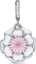 Laura Ashley Enamel-Plated Sterling Silver 2-Layered Flower Charm