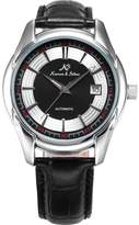 K&S KS Men's KS256 Analog Automatic Mechanical Date display Leather Band Wrist Watch