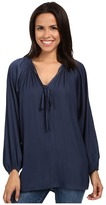 Miraclebody Jeans Paula Peasant Blouse w/ Body-Shaping Inner Shell