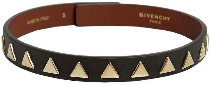 Givenchy Triangle Stud Leather Choker