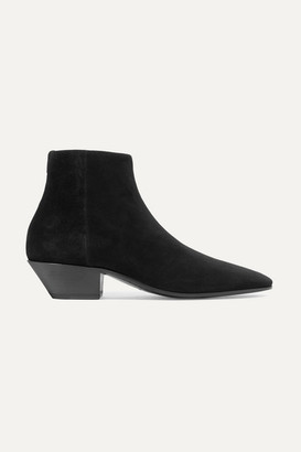 Saint Laurent Jonas Suede Ankle Boots - Black