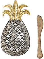 Mud Pie Pineapple Dip Bowl with Wood Spreader