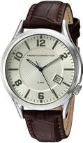 French Connection Men's 'Cromwell' Quartz Metal and Leather Automatic Watch, Color:Brown (Model: FC1260TWA)