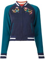 Elizabeth and James bird embroidery bomber