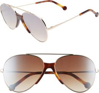 Colors In Optics Brasco 61mm Gradient Aviator Sunglasses