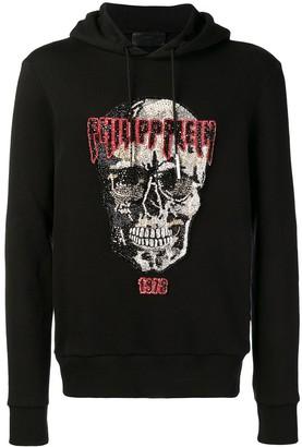 Philipp Plein Embellished Skull Hoodie