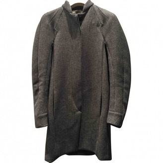 Balenciaga Grey Wool Coat for Women